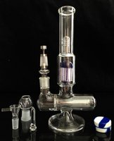 Wholesale inline and arm perc glass bong sidecar glass oil rig thick glass smoking water pipes joint mm