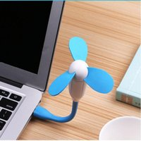 abc cooling - Dragonfly USB Mini Fan Three leaves USB Fan ABC Silicone with EVA Flabellum W Portable Flexible Cooling Cooler Traveling