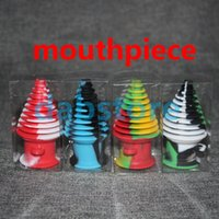 Wholesale Tower Shape Silicone Mouthpiece Cover Rubber Drip Tip Silicon Colorful Cap For Smoking Bong Glass Water Pipe Dab Jar Dabber Wax DHL
