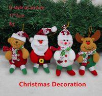 Wholesale Santa Boots Decorations - new arrivals Christmas Santa snowman deer bear Christmas tree decoration boot glove post mailer little angle ornaments decoration hanger Fre