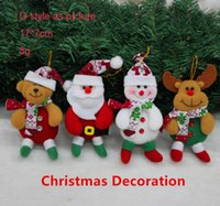 bear ornament - new arrivals Christmas Santa snowman deer bear Christmas tree decoration boot glove post mailer little angle ornaments decoration hanger Fre