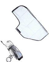 Wholesale Waterproof Dustproof Golf Bag Shield Outdoor PVC Golf Rain Cover Zippered Golf Bag Cover