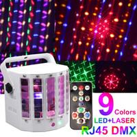 Wholesale New design laser Led derby light w Led dual swords light DMX led laser lights with remote control DJ Disico Ballroom party lights