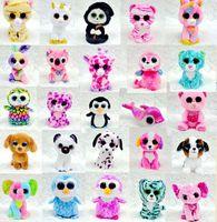baby beanie boos - 25 Design Ty Beanie Boos Plush Stuffed Toys cm Big Eyes Animals Soft Dolls for baby Birthday Gifts ty toys B