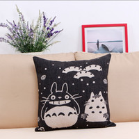 Wholesale Fashion Cartoon My Neighbor Totoro Character Throw Pillow Case CM inch Fluid Systems Hotel Home Car Party Hospital Decoration