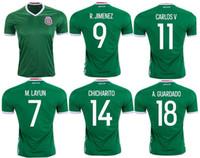 wholesale mexico - thai quality new Season mexico home green shirts G DOS SANTOS CHICHARITO A GUARDADO M LAYUN soccer Jerseys