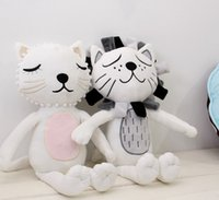 baby bedding dogs - 2016 Baby Sweet Toys Cartoon Lion Cat Shape Dolls Girl Boy Room Bed Decoration X33cm Birthday Christmas Gift K7667