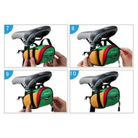 Wholesale Outdoor Cycling Mountain Bike Bags Bicycle Saddle Bag Back Seat Tail Pouch Package Black Green Blue Red