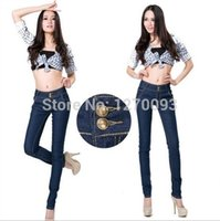 Wholesale New Arrival Fashion Straight High Waist Jeans Woman Slim Pencil Skinny Denim Casual Women Jeans Pants calca jeans feminina