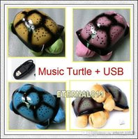 baby songs animals - 10PCS Turtle LED Night Light with USB Cable Music Light Mini Projector Colors Song Star Lamp baby lamp as creative gift