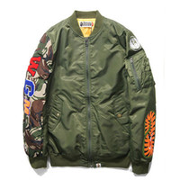 Men best sport coats - Shark Coat for men women best hip hop Autumn Winter jackets embroidery shark windbreaker baseball camo camouflage military sport