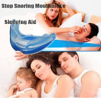 Wholesale 100X ANTI SNORE Stop Snoring Mouthpiece Snore Soft Silicon Anti Snore Sleeping Aid Prevents Grinding of Teeth with retail package