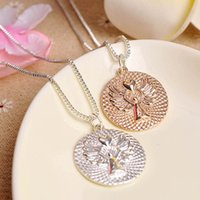 alphabet heart necklace - Hot European And American fashion Alloy Alphabet Love Heart Guard Angel Lettering Pendant Necklace