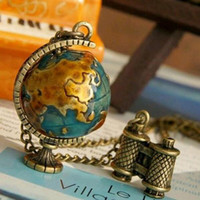 ball jewellry - Pendant Necklaces Fashion Design Hot Selling Retro Globe Telescope Ball Necklace Women Sweater Chain Jewelry For Women Vintage Jewellry