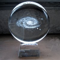 Wholesale The Department of the Milky Way Moon Crystal Ball Ornaments carved in the star ball birthday gift gift office decor