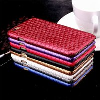 Cheap Fashion Fish Scale Grain Cases Veneer Gluing PC Leather Cover Case for iPhone 6 Plus 6S Plus ID Credit Cards Slot Luxury Protector
