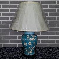 antique chinese lamp - Antique Chinese Hand painted ceramic Table Lamp Home decoration Flower and birds Pattern Porcelain Bedside Reading lamp