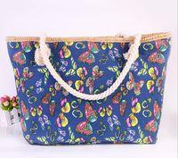 Women animal mix handbag - DHL free lotClassical Women Ladies mix color butterfly Canvas Shoulder Bag New Hot Messenger Bag Summer Beach Handbag Bags Totes