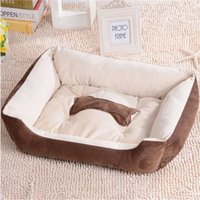 Wholesale Big Size Brown Warm Soft Puppy Pet Dog Cat Bed Basket Nest Mat Waterproof L XL