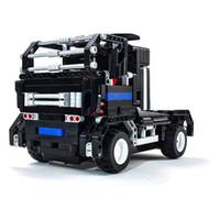 auto truck electric - 2016 Kids Toys RC Trucks Anime Robot Transformer Auto Bricks Union Building Blocks Sets Children toys For Gift Items One Piece