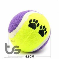 affordable dogs - Funlly And Lovely Candy color Dog Toy Tennis Balls Run Catch Throw Play Toy Chew Toys Pet Ball Affordable