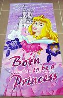bath towels on sale - Via DHL Hop Quality Princes Bath Towel Cotton Cartoon Beach Towel G3246 on Sale