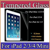 Wholesale 2016 mm H Tablet PC Tempered Glass Screen Protector For iPad Mini iPad2 iPad Air Air iPad Pro Explosion proof Film A PG
