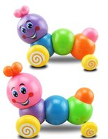 Wholesale Strange new hot children clockwork toys on the chain colorful Christmas toy worm caterpillar telescopic e mail treasure