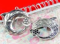 antique nautical items - A3310 MM vintage tibetan silver dolphin charms nautical items antique necklace bracelet pendant alloy metal diy jewelry accessories