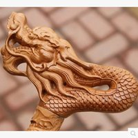 Wholesale Natural wood wood carved wooden crutches leading cane cane cane mat birthday gift Claus send gift