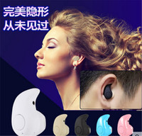Wholesale Super Small Bluetooth Headset - S530 super mini wireless earphone stereo bluetooth Headphone headset smallest In ear V4.0 Stealth earphone Earbud for cell phone