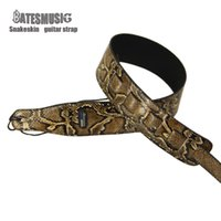 Wholesale 2016 NEW Snakeskin brand guitar strap widening folk guitar straps electric guitar electric bass strap