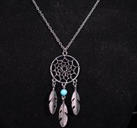 Wholesale 2016 Fashion hot Pendant Necklaces Styles Alloy Dream Catcher girl Necklace For Women Statement Necklace Jewelry EXL102