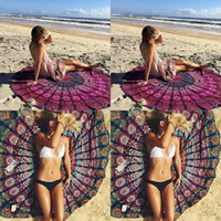 Wholesale Indian Yoga Blankets Round Mandala Tapestry Wall Hanging Throw Towel Beach Yoga Mat Decor LXC