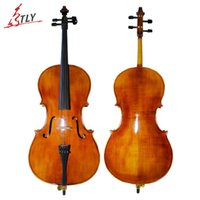Wholesale TONGLING Hand Made Oil Varnish Cello Antique Cello Natural Flamed Old Spruce Hi end Maple Wood Musical Instruments
