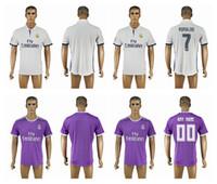 Wholesale 2016 Real Madrid Scccer Jersey Top Thai Quality Soccer Shirts RONALDO KROOS JAMES BALE Soccer Wear Customs Jerseys
