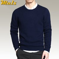 best jersey dresses - Pure cotton sweaters men best style O neck mens sweaters MULS brand jersey pullover male autumn winter XL knitwear dress MS891