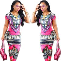 Wholesale 2016 New Spring And Summer Women In Europe And America Sexy Totem Printing African Style Leisure Suit Red Rose Close B