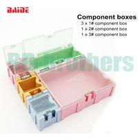 Wholesale 5pcs set Component storage box Square IC Components Boxes SMT SMD Wen tai Boxes Kit sets
