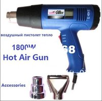 air blower nozzle - 1800W electric hot air gun with digital LCD display with nozzles V V industry heat warm air pistol blower soldering tool