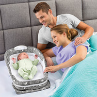baby delight - Baby Delight Snuggle Nest Surround Folding sleep crib cribs Back sleeping postioner music