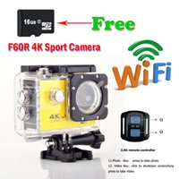 Wholesale Ultra HD Action camera F60R Allwinner V3 K fps waterproof WiFi Sport camera quot LCD D lens Helmet Cam Car Recorder