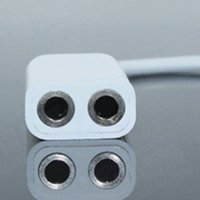 Wholesale 3 mm Earphone Headphone Male to Dual Female Y Splitter Stereo Audio Cable Adapter Jack for iPod iPhone iPad