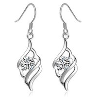 chandelier price - Price Hot Sell Sterling Silver Crystal Drop Earring Leaf Shape Dangle Earrings For Women Jewelry