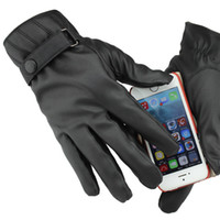 Wholesale Men All Finger Drive Touch Screen Gloves Brand Full Palm Touch Screen Ultra Soft Leather Warm Running Gloves