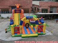 backyard playground slides - Hot selling inflatable cartoon theme fun city jumping bouncy playground