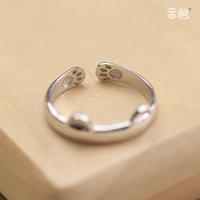 animal index - Creative S925 Silver Female Cute Cat Ring Opening Index Finger Tail Ring Korea Original Personalized Gift Silverware