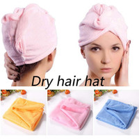 Wholesale Dry hair hat Towel dry hair magic dry hair cap super absorbent dry hair Dry hair hat