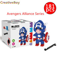 Wholesale Creative boy Diamond particles small blocks captain America children s educational toys assembled educational toys hot