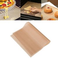 Wholesale New Reusable No Stick BBQ Grill Mat Sheet Hot Plate Portable Easy Clean OutDoor Cooking Tool mm Thick brown CM